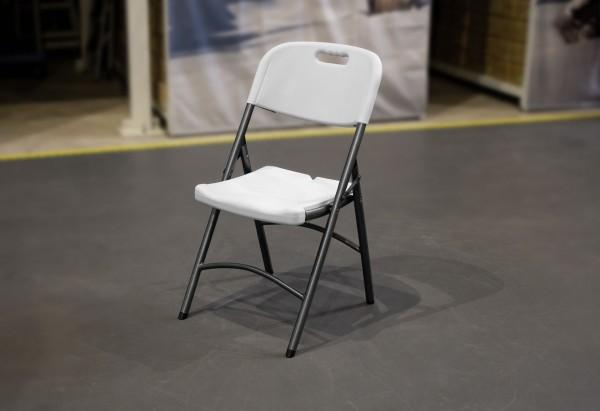 MVL-TENT ® Standard Klappstuhl mit Lehne, Sitzfläche und Lehne aus HDPE / Füße klappbar