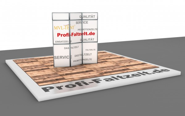 MVL-TENT® Faltwand-System mit Aluminium-Rahmen, Stecksystem
