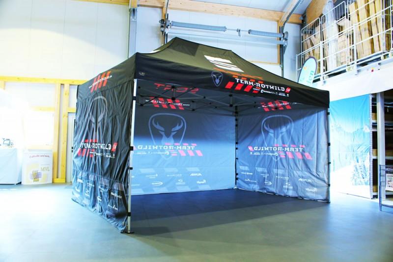 Racing Faltzelt komplett Bedruck Team Rotwild