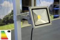 MVL LED Lampe 20W mit Befestigung im Set | Zeltbeleuchtung.