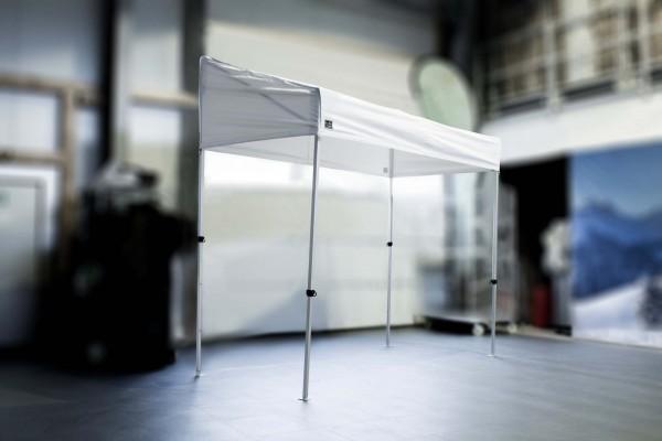 Marktstand in Größe 1,5 x 3 m. Spezial Marktzelt mit geringem Platzbedarf