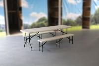 MVL-TENT® Spar-Set HDPE 1 x Klapptisch 240 x 76 cm + 2 x Sitzbank