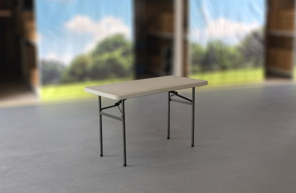 MVL-TENT® Multi-Tisch, 122 x 61 cm, HDPE-Tischplatte in weiß / Füsse klappbar