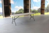 MVL-TENT® Klapptisch 240 x 76 cm, HDPE-Tischplatte in weiß / Klappbare Füße und Tischoberfläche