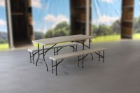 MVL-TENT® Spar-Set HDPE 1 x Klapptisch 184 x 76 cm + 2 x Sitzbank