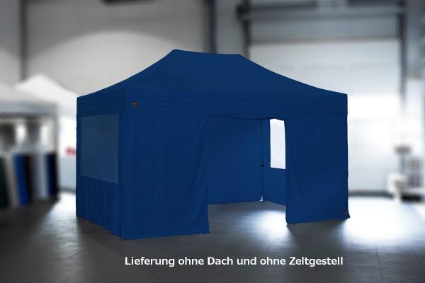Seitenwand-Set für MVL-TENT® Faltpavillons 3x4,5m | 4 x Seitenwand + Tasche | Extra hoch: 238cm