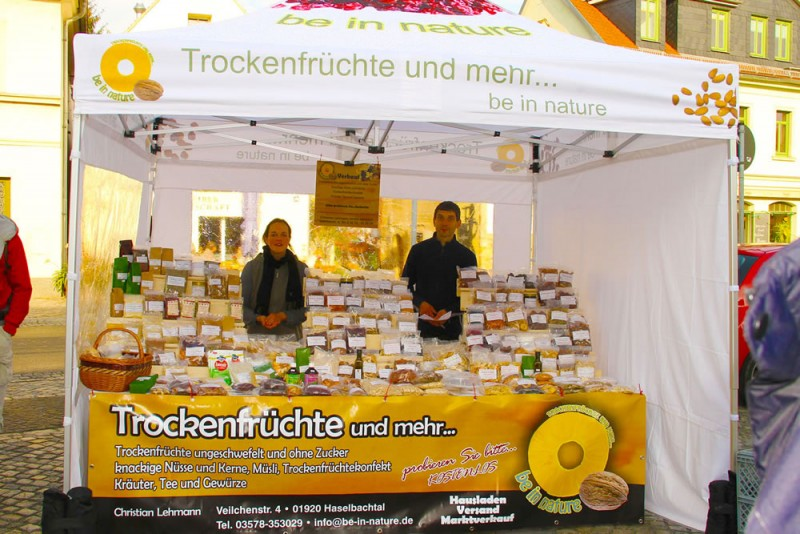 Marktzelt Trockenfrüchte