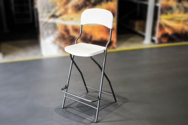 MVL-TENT® Klappstuhl / Barhocker mit Lehne, Sitzfläche und Lehne aus HDPE / Füße klappbar
