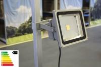 MVL LED Lampe 30W mit Befestigung im Set | Zeltbeleuchtung