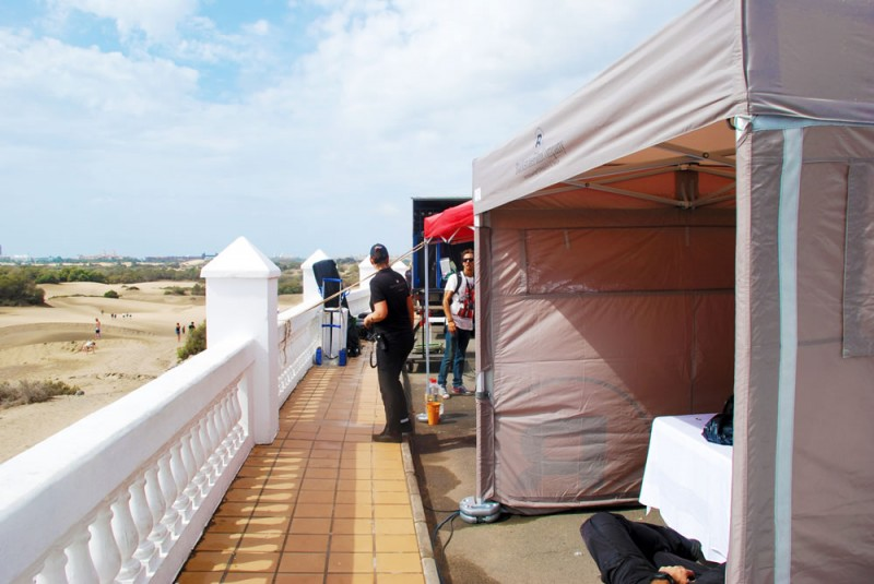 Faltpavillons mit Druck Blackstone Film