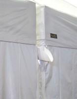 MVL-TENT® Faltpavillon Regenrinne horizontal aus PVC | Alle Serien.