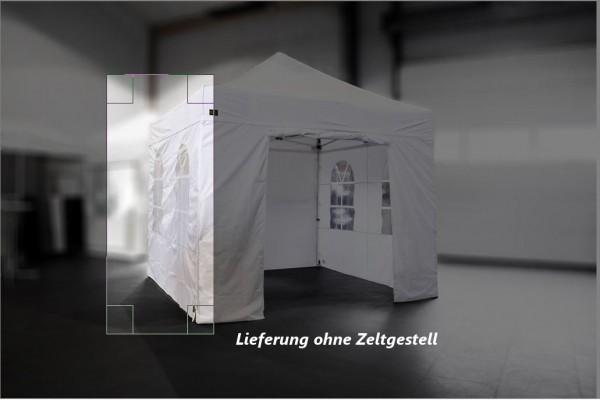 MVL-TENT ® Seitenwand mit Bogenfenster, Größe: 3m, Farbe: Weiß | 2. Wahl, Sonderpreis