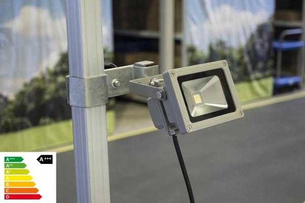 MVL LED Lampe 10W mit Befestigung im Set   Zeltbeleuchtung