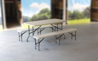 MVL-TENT® Spar-Set HDPE 1 x Klapptisch 152 x 76 cm + 2 x Sitzbank