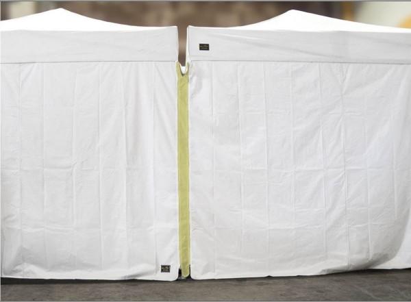 MVL-TENT ® Seitenwand-Verbinder mit Reißverschluss für Faltpavillons| Farbe: Champagne | 2. Wahl
