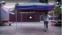 Wie man einen Faltpavillon NICHT aufbaut