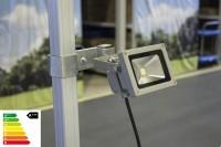 MVL LED Lampe 10W mit Befestigung im Set | Zeltbeleuchtung