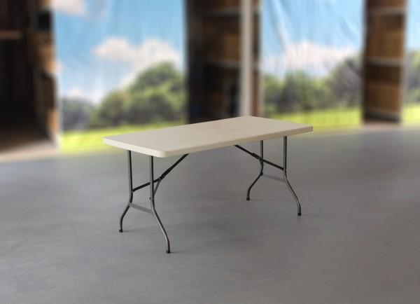 MVL-TENT® Klapptisch 152 x 76 cm, HDPE-Tischplatte in weiß / Füße klappbar