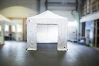 MVL-TENT® Seitenwand mit Tür 3m und 4,5m - Klettverschluss-System