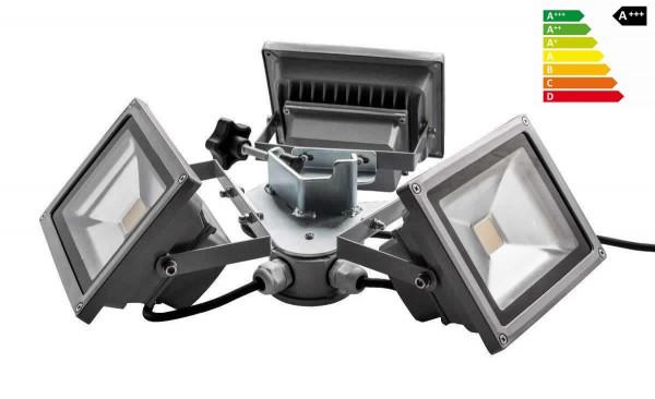 MVL LED Beleuchtung für Faltzelte | Kranz 3 x 20W Hochleistungs-LED